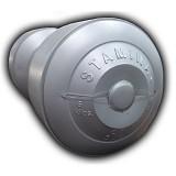 STAMINA Plastic Dumbbell 6kg [ST-800-6S] - Silver - Barbell / Dumbbell